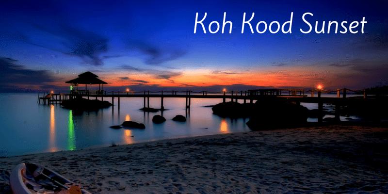 Sunset on Koh Kood